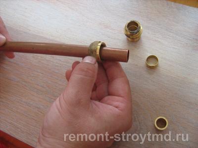 как установить металлические трубы