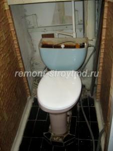 Фото туалета до выполнения работ