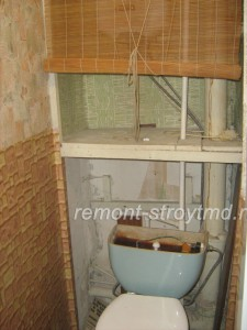 Туалет до начала строительных работ